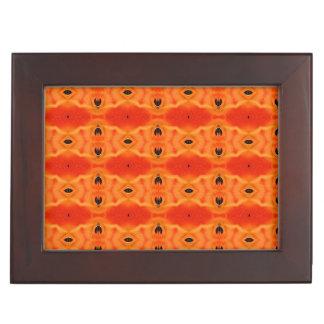Orange Lily Pattern Keepsake Box