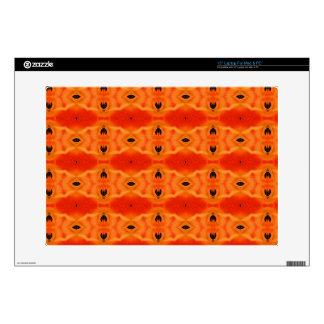 Orange Lily Pattern Laptop and Netbook Skin