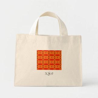 Orange Lily Pattern Mini Tote Bag
