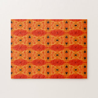 Orange Lily Pattern Puzzle