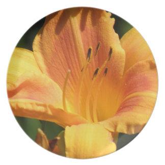 Orange Lily  Plate