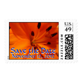 Orange Lily Save the Date postage