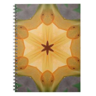 Orange Lily Star Spiral Notebooks