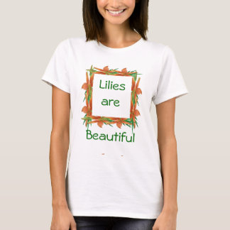 Orange Lily T-shirt-customze T-Shirt