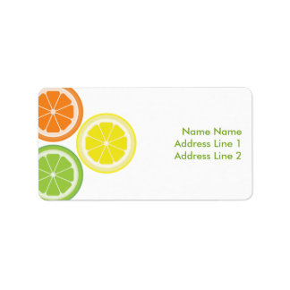 Orange Lime Lemon Address Label