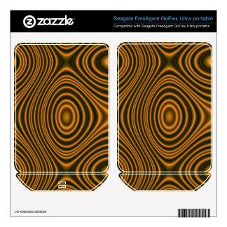 Orange line pattern FreeAgent GoFlex decals