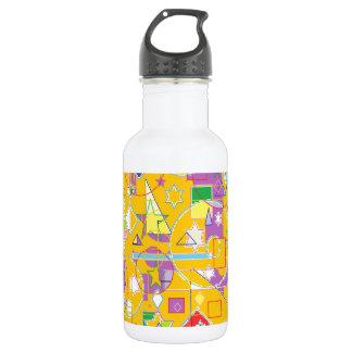 Orange Line Stainless Steel Water Bottle