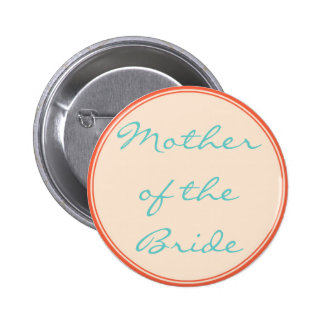 Orange Lines Wedding Button Template