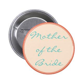 Orange Lines Wedding Button Template