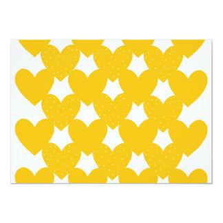 Orange Linked Hearts Card