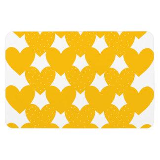 Orange Linked Hearts Rectangular Photo Magnet