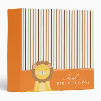 Orange | Lion And Stripes Binder