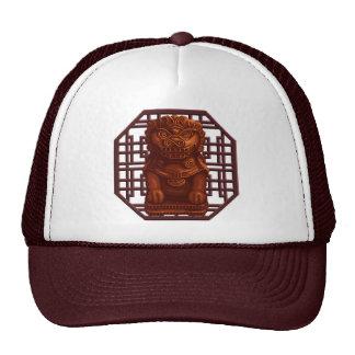 Orange Lion Dog Pixel Art Trucker Hat
