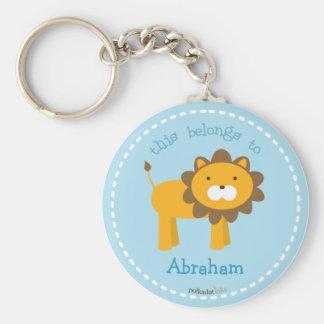 Orange Lion Keychain