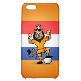 Orange lion soccer hero case for iPhone 5C