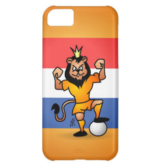 Orange lion soccer hero cover for iPhone 5C