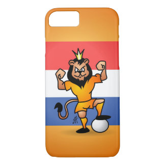 Orange lion soccer hero iPhone 8/7 case