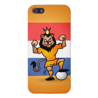 Orange lion soccer hero iPhone SE/5/5s case