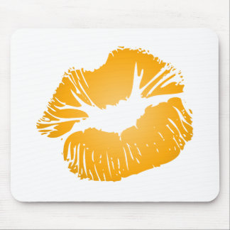 Orange Lips Mouse Pad
