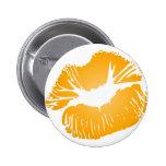 Orange Lips Pinback Button