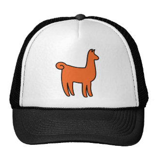 Orange Llama Apparel Trucker Hat