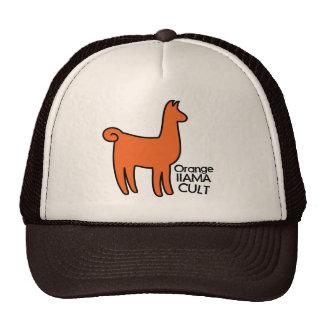 Orange Llama Cult Apparel Trucker Hat