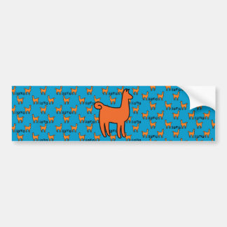 Orange Llamas Bumper Sticker Car Bumper Sticker
