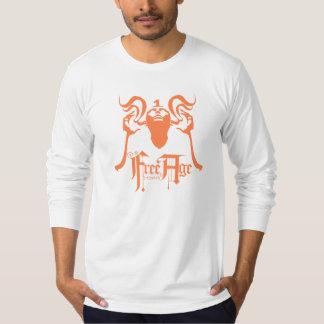 Orange Long Sleve Free Age Shirt