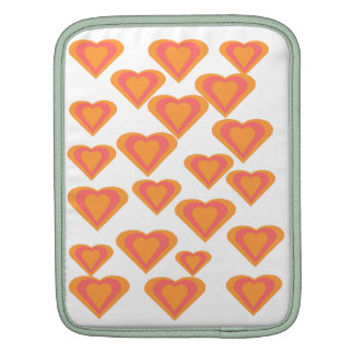 Orange Love Hearts Sleeve Sleeve For iPads