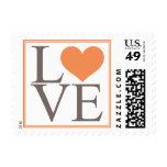 Orange Love Postage Stamp