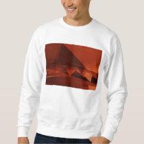 Orange Low Poly Background Design Artistic Pattern Sweatshirt