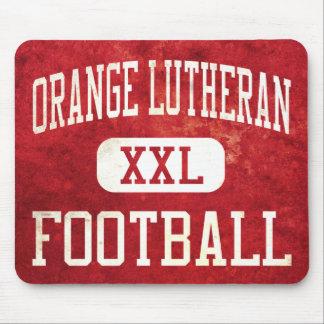 Orange Lutheran Lancers Football Mouse Pad