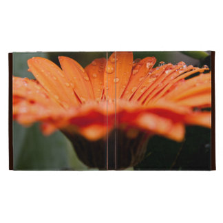 Orange macro floral iPad folio case