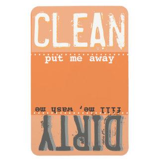 Orange Magnet for Dishwasher - Clean/Dirty Magnet