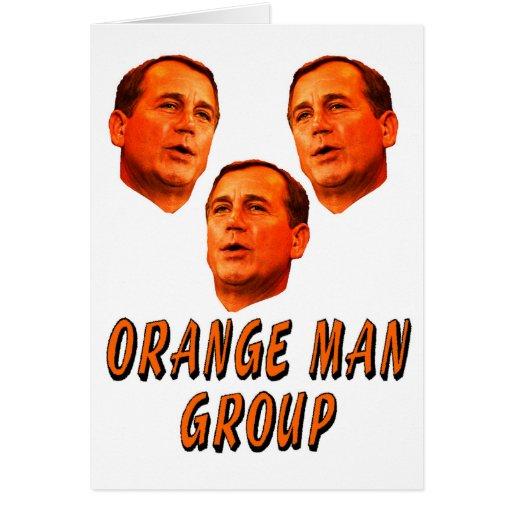 Orange Man Group Card