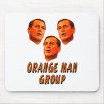 Orange Man Group Mouse Pads