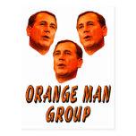Orange Man Group Postcard