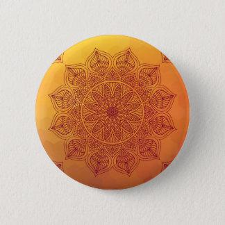 Orange mandala button