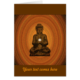 orange mandala for Buddha Card