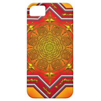 Orange Mandala iPhone SE/5/5s Case