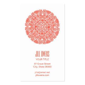 Orange Mandala Yoga Studio Business Cards