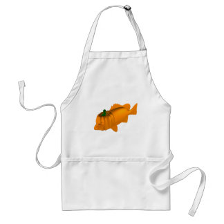 Orange Mangrove Jack Adult Apron
