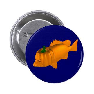 Orange Mangrove Jack Pinback Button