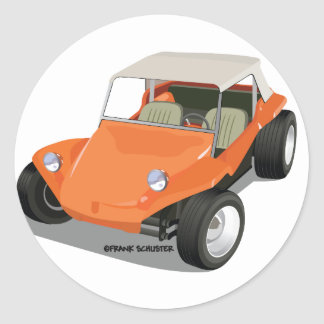 Orange Manx Only Classic Round Sticker