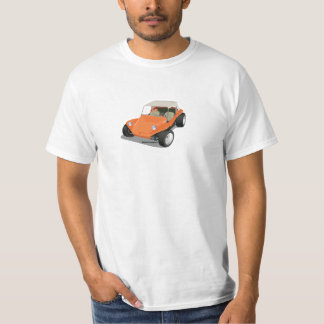 Orange Manx Only on White T-Shirt