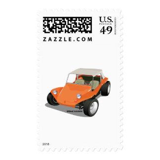 Orange Manx Only Postage Stamp
