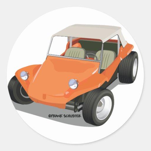Orange Manx Only Stickers