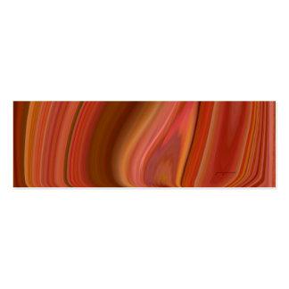 orange marble bookmark mini business card
