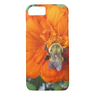 Orange Marigold Bee Flower iPhone 8/7 Case