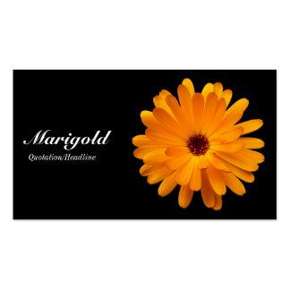 Orange Marigold- Black Double-Sided Standard Business Cards (Pack Of 100)